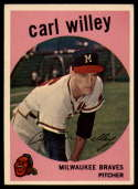 1959 Topps #95 Carl Willey EX++ Excellent++