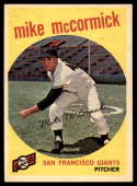 1959 Topps #148 Mike McCormick NM Near Mint