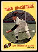 1959 Topps #148 Mike McCormick EX++ Excellent++