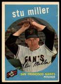 1959 Topps #183 Stu Miller EX Excellent