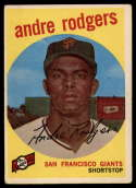 1959 Topps #216 Andre Rodgers EX/NM white back