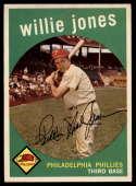 1959 Topps #208 Willie Jones EX/NM gray back