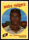1959 Topps #216 Andre Rodgers VG/EX Very Good/Excellent gray back