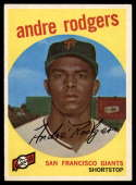 1959 Topps #216 Andre Rodgers EX/NM gray back