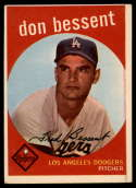 1959 Topps #71 Don Bessent EX Excellent