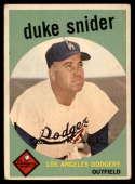 1959 Topps #20 Duke Snider EX Excellent