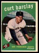 1959 Topps #307 Curt Barclay EX Excellent