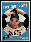 1959 Topps #332 Ray Monzant EX Excellent