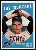 1959 Topps #332 Ray Monzant NM+