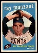 1959 Topps #332 Ray Monzant EX/NM