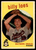 1959 Topps #336 Billy Loes  VG Very Good