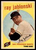 1959 Topps #342 Ray Jablonski EX/NM