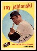 1959 Topps #342 Ray Jablonski VG/EX Very Good/Excellent