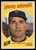 1959 Topps #377 Johnny Antonelli NM Near Mint
