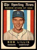 1959 Topps #133 Bob Lillis EX/NM RC Rookie