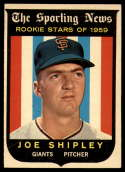1959 Topps #141 Joe Shipley EX Excellent RC Rookie