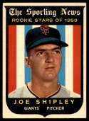 1959 Topps #141 Joe Shipley EX++ Excellent++ RC Rookie