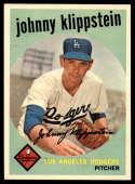 1959 Topps #152 Johnny Klippstein UER NM Near Mint
