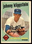 1959 Topps #152 Johnny Klippstein UER EX Excellent