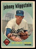 1959 Topps #152 Johnny Klippstein UER VG/EX Very Good/Excellent
