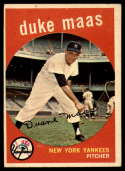 1959 Topps #167 Duke Maas VG/EX Very Good/Excellent