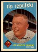 1959 Topps #195 Rip Repulski EX Excellent
