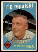 1959 Topps #195 Rip Repulski VG/EX Very Good/Excellent