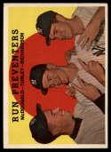 1959 Topps #237 Gil McDougald/Bob Turley/Bobby Richardson Run Preventers VG/EX Very Good/Excellent gray back