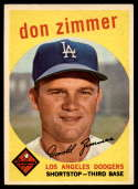 1959 Topps #287 Don Zimmer VG/EX Very Good/Excellent