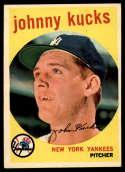 1959 Topps #289 Johnny Kucks EX/NM