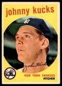 1959 Topps #289 Johnny Kucks EX Excellent