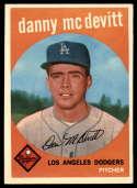 1959 Topps #364 Danny McDevitt EX++ Excellent++