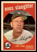 1959 Topps #155 Enos Slaughter EX Excellent