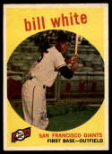 1959 Topps #359 Bill White EX++ Excellent++ RC Rookie