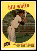 1959 Topps #359 Bill White EX Excellent RC Rookie