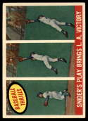 1959 Topps #468 Duke Snider Snider's Play Bring L.A. Victory EX Excellent