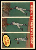 1959 Topps #468 Duke Snider Snider's Play Bring L.A. Victory EX/NM