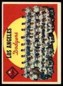 1959 Topps #457 Dodgers Checklist EX Excellent