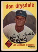 1959 Topps #387 Don Drysdale VG Very Good