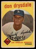 1959 Topps #387 Don Drysdale G/VG Good/Very Good