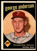 1959 Topps #338 Sparky Anderson EX Excellent RC Rookie Phillies