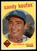 1959 Topps #163 Sandy Koufax EX/NM