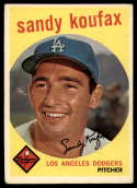 1959 Topps #163 Sandy Koufax VG/EX Very Good/Excellent
