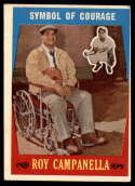 1959 Topps #550 Roy Campanella Symbol of Courage VG/EX Very Good/Excellent