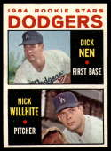 1964 Topps #14 Dick Nen/Nick Willhite Dodgers Rookies EX/NM RC Rookie