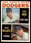 1964 Topps #14 Dick Nen/Nick Willhite Dodgers Rookies EX Excellent RC Rookie