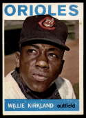 1964 Topps #17 Willie Kirkland EX Excellent