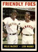 1964 Topps #41 Willie McCovey/Leon Wagner Friendly Foes EX Excellent