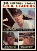 1964 Topps #2 Gary Peters/Juan Pizarro/Camilo Pascual AL E.R.A. Leaders EX/NM