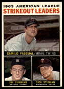 1964 Topps #6 Camilo Pascual/Jim Bunning/Dick Stigman AL Strikeout Leaders EX++ Excellent++